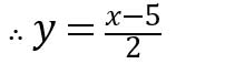 বা, 2y= x+5-10 বা, 2y= x-5