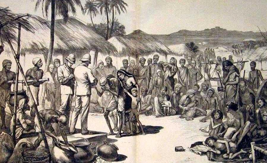 ছিয়াত্তরের মন্বন্তর (১৭৭০ সাল), ১৭৫৭ সাল থেকে ১৯৪৭ সাল পর্যন্ত দশটি উল্লেখযোগ্য ঘটনার সচিত্র পোস্টার
