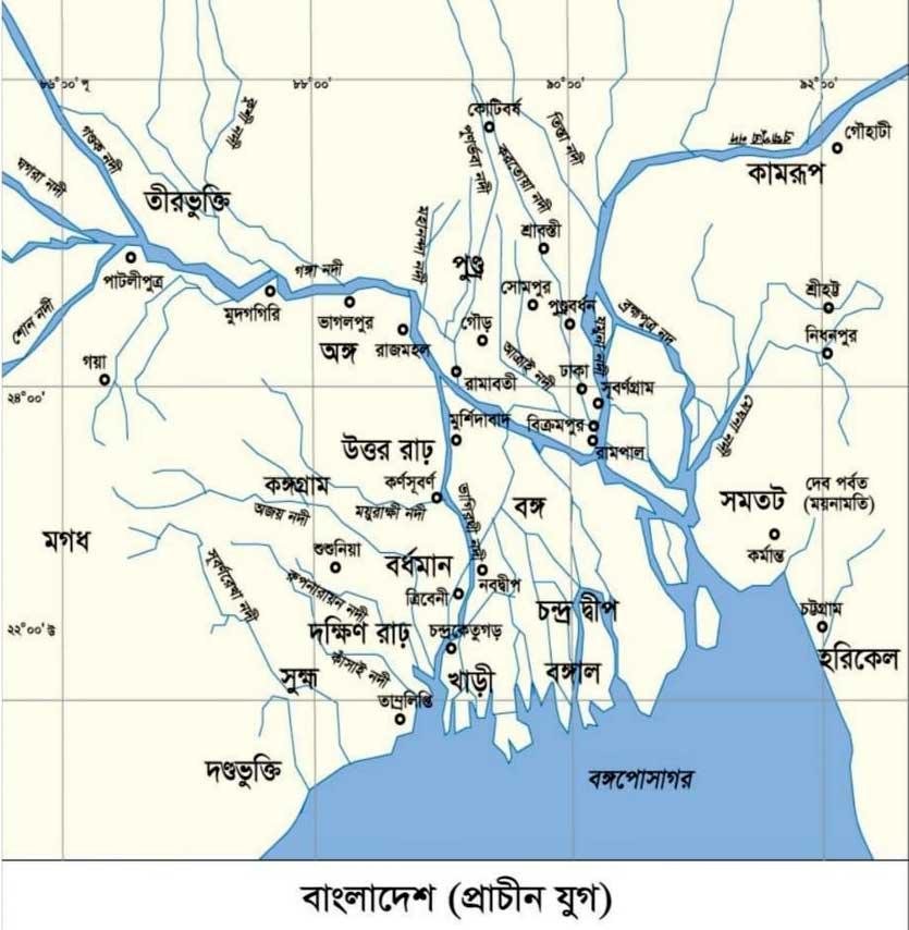 প্রাচীন বাংলার মানচিত্র
