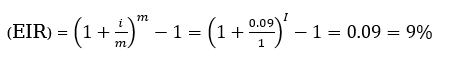 x ব্যাংকের কার্যকরী সুদের হার,
